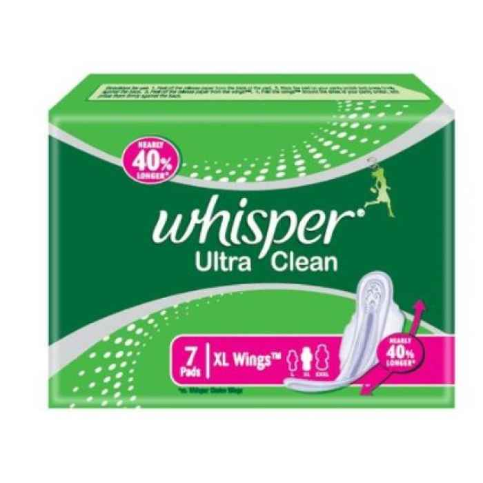 sanitary pads and hygiene whisper ultra clean 7 pads xl wings